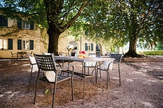 L'ampio giardino di Villa Crivelli Visconti