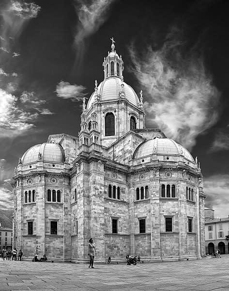 Il Duomo di Como in bianco e nero