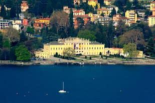Visuale completa del lago di Como
