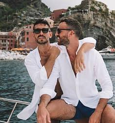 I The Globbers in barca sul lago di Como