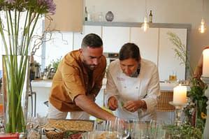 The Globbers con uno chef a Villa Benedetta