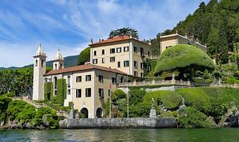 Vista della Villa Balbianello sul Lago di Como