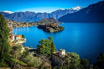 L'Isola Comacina nel lago di Como