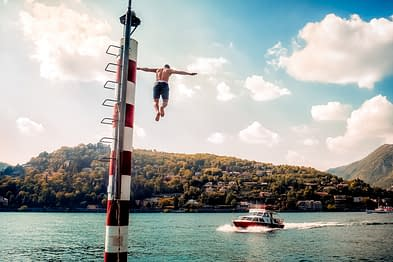 Attività acquatiche sul lago di Como
