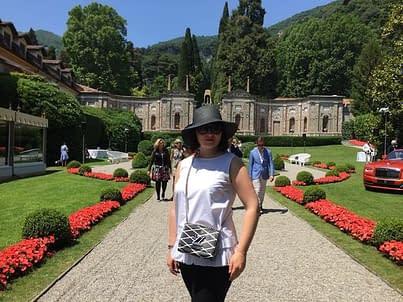Elena Markova in visita a Como