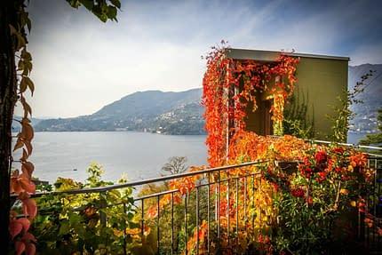 La vista del lago di Como da Le Casette di Tivano